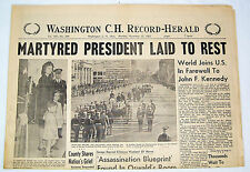Washington Court House Ohio Newspaper - Nov 25 1963 - JOHN F KENNEDY FUNERAL