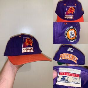 Vintage Phoenix Suns Hat Size 6 3/4 Purple Starter Made In USA NBA The Natural