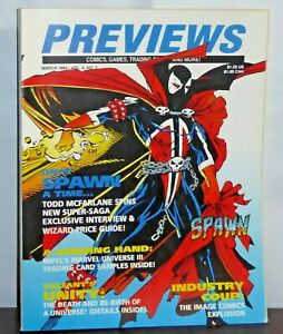 Previews Magazine March 1992 Vol II No 3 Spawn Todd McFarlane Interview