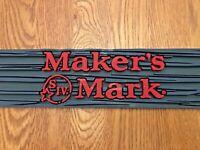 Makers Mark Bourbon Rubber bar runner (New) Home bar/ Pub Shed/ Bourbon Whisky