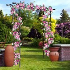 Garden Steel Pergola Archway Arch Trellis Wedding Rose Climbing Arbors Support