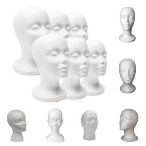 Multi-Use Head Model Styrofoam Foam Head Mannequin Wig Stand Rack