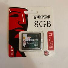 BNIB KINGSTON 8 GB COMPACTFLASH MEMORY CARD (CF/8GB) NEW