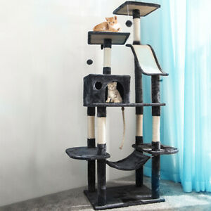 170CM Cat Tree Climbing Frame Tower Condo Scratching Kitten Pet House Activity
