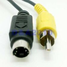"""5ft 1.5M S-Video S-VHS Cable 4 pin Male plug to RCA Male plug HDTV 5"""" Audio"""