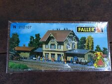Faller 212107 N Scale Guglingen Railway Station with Freight Building Kit (New)