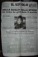 13 APRILE 1961 * YURY ALEXIEVIC GAGARIN *IL PRIMO UOMO NELLO SPAZIO- POSTER