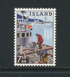 """ICELAND 1963, 7Kr50 'SPOT BETWEEN SHOULDERS"""" VF MNH Sc#355v Fa#408v (SEE BELOW)"""