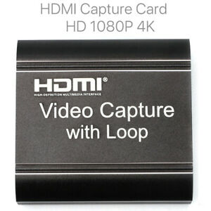 HDMI Video Capture Card USB 2.0 Mic Game Record Live Streaming 4K HD 1080P 60fps