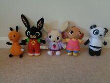 Cbeebies Bing Bunny Soft Plush Cuddly Toy Bundle Bing Flop Pando
