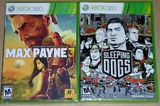 XBox 360 Game Lot - Max Payne 3 (New) Sleeping Dogs (New)