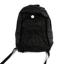 Roxy womens juniors backpack striped school book bag chevorn surf black