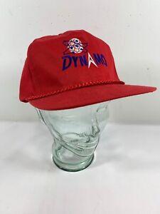 Vintage Dynamo Soccer Red Trucker Hat SnapBack E3