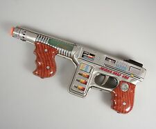 Vintage Tin Litho -Junior Burp Gun- Friction Space Toy
