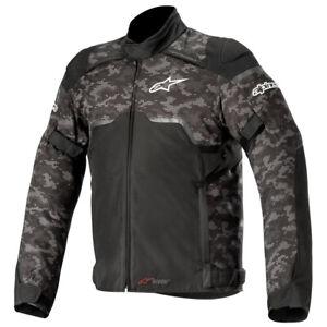 Alpinestars Hyper Drystar Waterproof Motorcycle Jacket Black & Camo Red