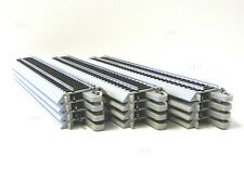 Ho Scale Model Railroad Trains Layout 12 Pcs Bachmann Silver Ez Track Straight