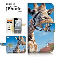 ( For iPhone 5 / 5S ) Wallet Case Cover P21126 Giraffe