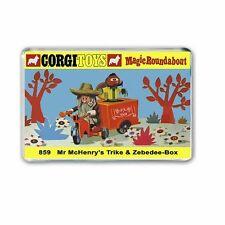 CORGI TOYS  Mr Mc Henry's Trike MAGIC ROUNDABOUT - JUMBO FRIDGE / LOCKER MAGNET