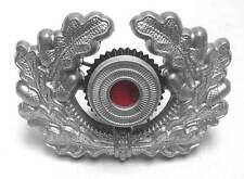 German Wreath Cockade Aluminium Metal Army Heer Visor Cap Hat Badge WW2 WWII