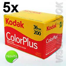 5 pezzi pellicola rullino Kodak Color Plus 36 foto 200 ISO 35 mm SCADENZA 2020