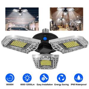 Ajustable Éclairage de Garage à LED Lampe d'atelier Déformable à 3 Panneaux
