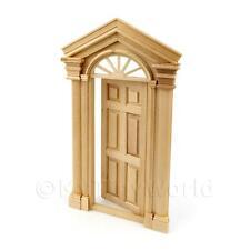 Maison de poupées miniature Externe porte avec portique