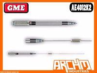 GME AE4012K2 UHF 86 CM ELEVATED FEED BASE SPRING & WHIP 477 MHZ ANTENNA 6.6 DBI