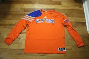Mychel Thompson 2012 New York Knicks game used w-up shirt size 2XL Steiner auth.