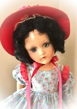 "RARE GOWN on 18"" Madame Alexander SCARLETT O'HARA Vintage Composition Doll"