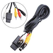 1.8M 6FT Multifunction AV TV S-Video Cable For Nintendo Gamecube 64 SNES NGC N64