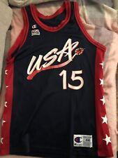 03d42e1fb72 Vintage Hakeem Olajuwon Team USA Dream Team NBA Olympics Blue Champion  Jersey 44