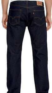 Levis 505 Jeans New Mens Regular Fit Straight Leg Color Blue Rinse 0216