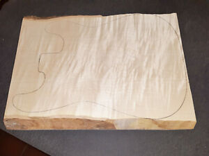 FLAMED MAPLE BODY BLANK, RIEGELAHORN KORPUSROHLING - Tonholz,Tonewood