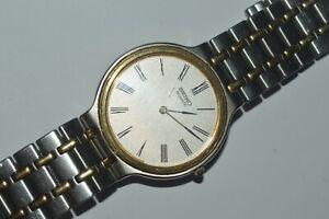 SEIKO Watch 5E20-7A40 Gents Unisex Quartz 34mm Roman Numerals Vintage Used Works