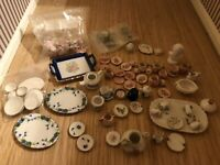 Dolls House Emporium Large Mix Lot 1:12 Th Scale Assorted China Pots