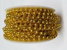 Gold Bead String Trim 5mm size bead per 1m cut to order.