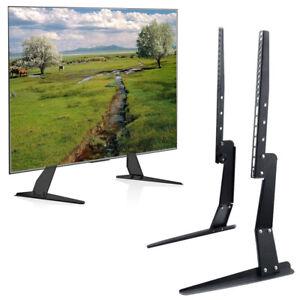 Strong Steel Universal Tabletop TV Stand Base TV Mount Riser Height Adjust Legs
