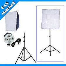 Photo Studio kit Video 5 Holder Lighting 60*90cm Softbox+220cm light stand