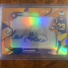 2020 PANINI ELEMENTS CAM AKERS AUTO ROOKIE NEON SIGNS ORANGE 34/99 RAMS