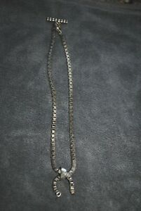 Lisa Jenks silver box chained necklace