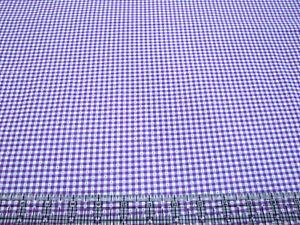 3 Yards Digital Cotton Fabric - QT Fabrics Sorbets Dotted Gingham Purple White