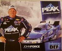 2015 John Force Handout NHRA Peak 16X Champ Funny Car Free Shipping  8 x 10