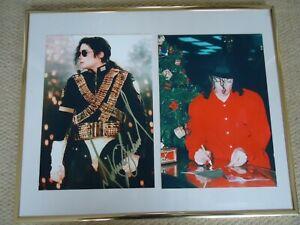 MICHAEL JACKSON AUTOGRAPHED [COPY OF] PHOTO + AUTOGRAPHING BACKSTAGE 1996 IMAGES