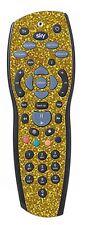 Gold Sequin Sticker/Skin sky+hd Remote controller/controll stickers r46