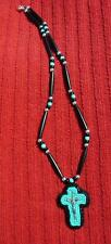 Guys or Gals!!!  Native American Indian Beaded Cross Necklace