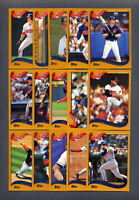 2002 Topps ClLEVELAND INDIANS Team Set (30) Cards