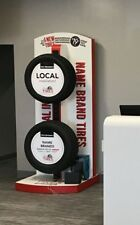 Wheel and Tire Display for Retail, Tire Rack Stand, Goodyear, Bridgestone