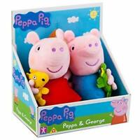 Peppa Pig Soft Plush Toy Doll Teddy Set of 2 - Peppa & George