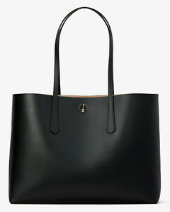 Kate Spade molly Leather Large tote w/ Pouch ~NWT~ Black