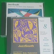 Jazzsouth Southern Arts Federation #8,11 Cd Lot Brendle Adair Gill Welch Walters